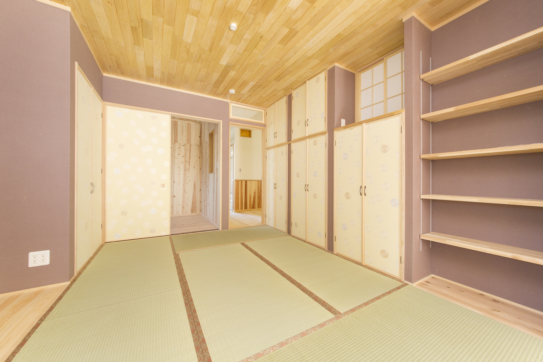和室収納の例、クボデラ㈱施工