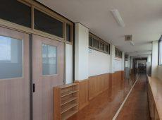 【内装木質化に取り組む文京区内の小学校】